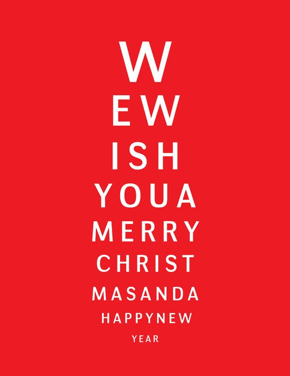 Holiday Eye Kandy Winter Wonderland: Eye Chart Christmas Cards. I Bought This For My Fil, The