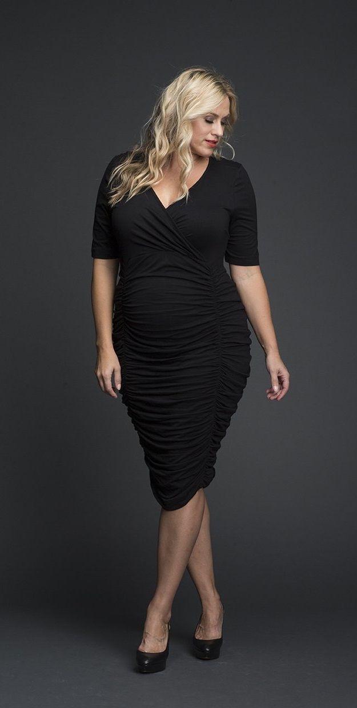 Plus Size Ruched Wrap Dress Plus Size Party Dress Plus Size