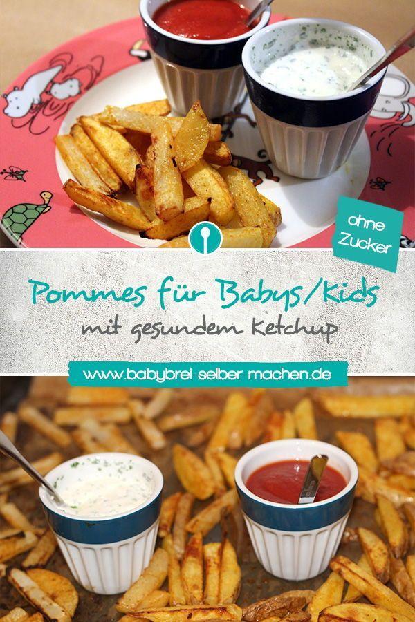 Gesunde Pommes rot-weiß für Babys ab 8-10 Monaten und Kleinkinder #pommesselbermachenofen
