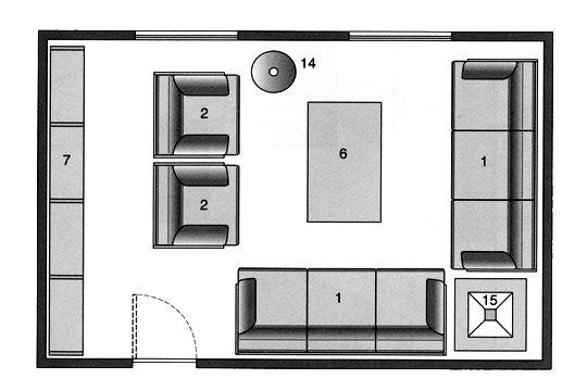 Plan salon gratuit  10 plans pour aménager le salon Salons
