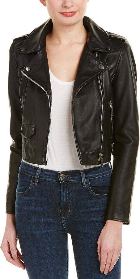 ae4f48ba4451c Walter Baker Liz Leather Moto Jacket