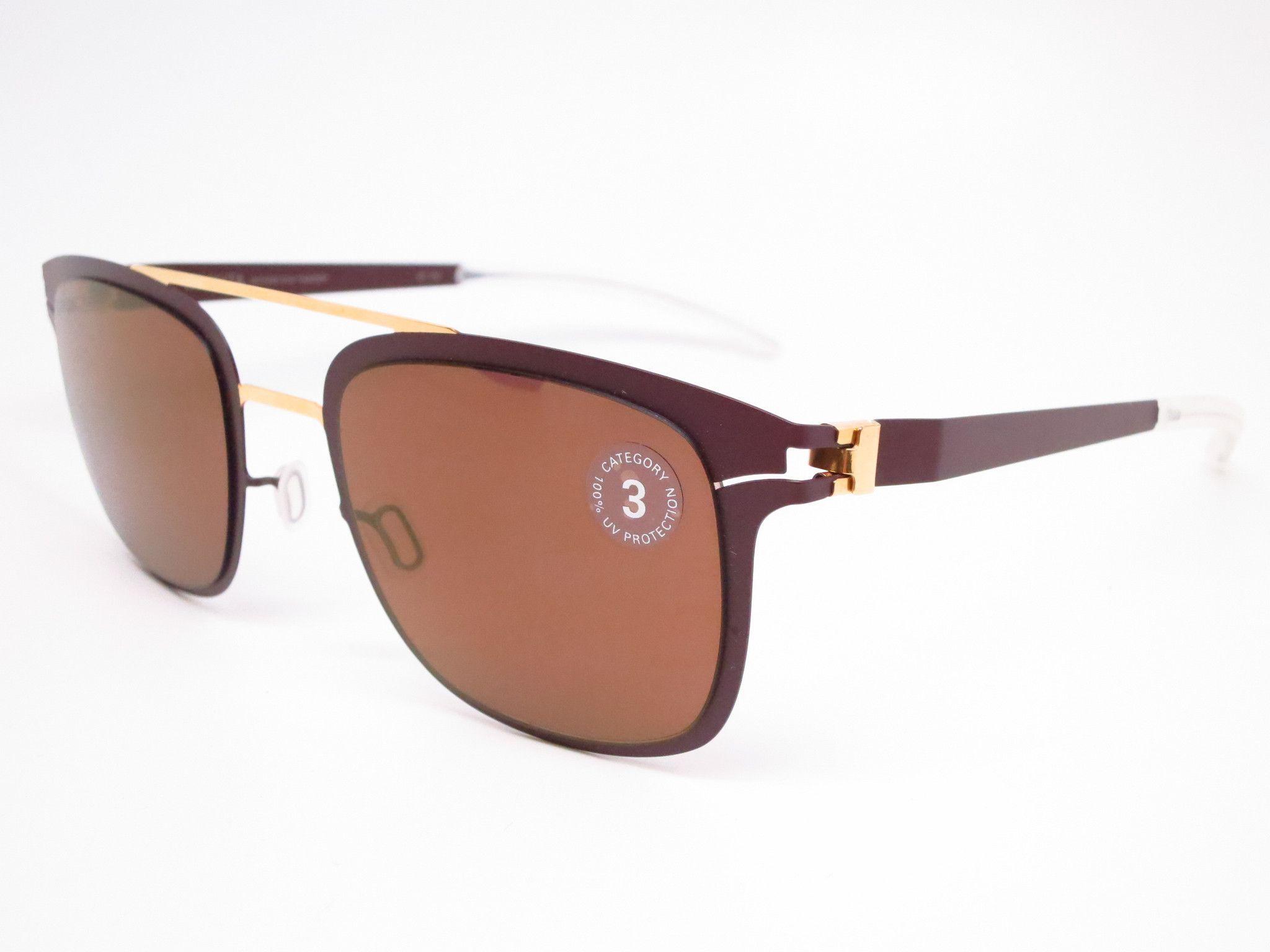 7896dcc3701 Mykita Hunter 164 Gold Terra Decades Sun Sunglasses