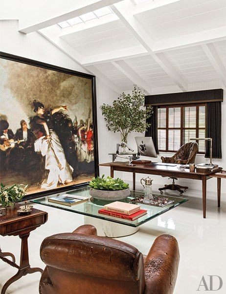 Step inside will kopelman   stylish office oasis at the los angeles home he shares with his wife drew barrymore and their young family also decor pinterest rh