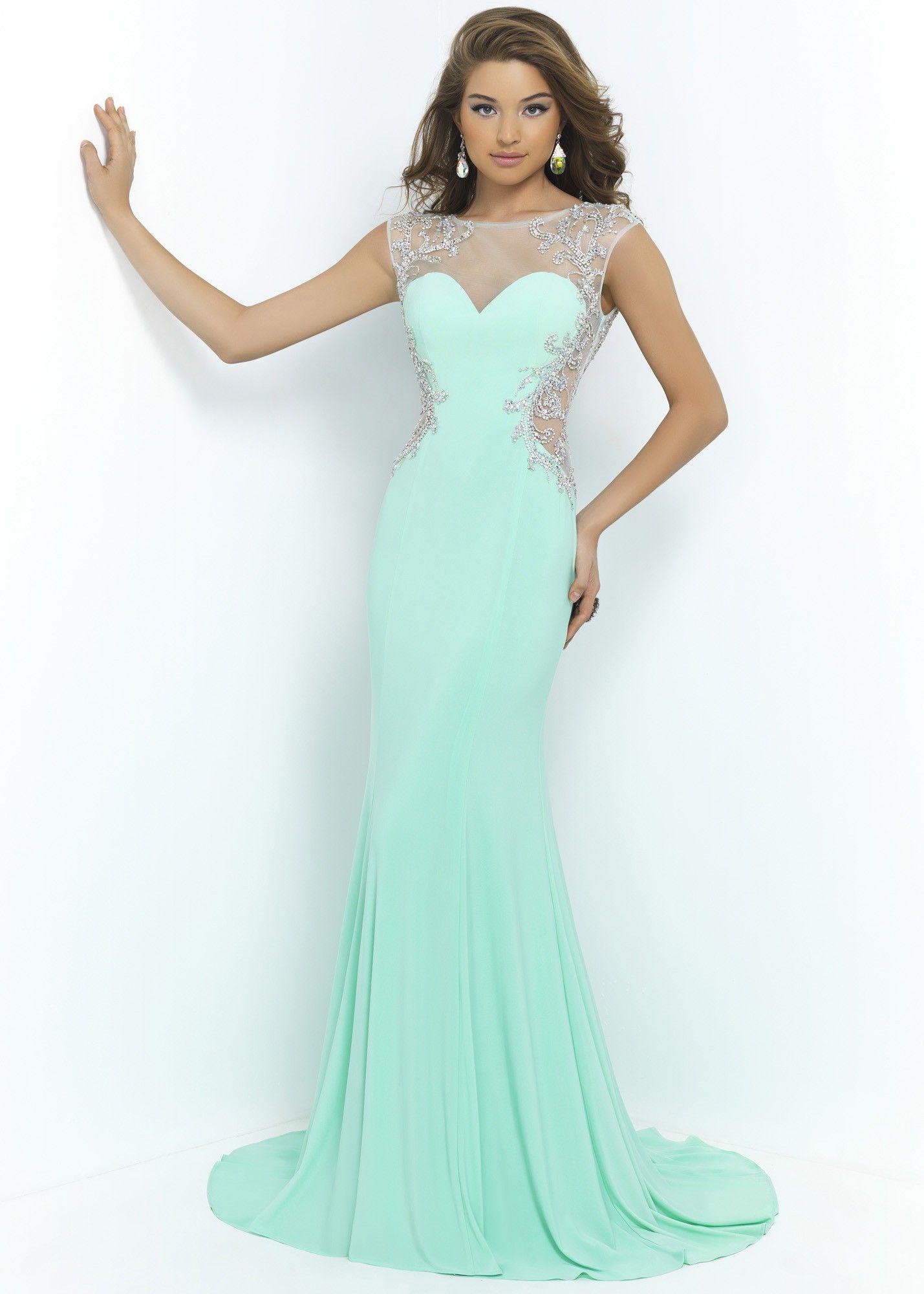 Blush 9942 Sexy Illusion Dress SALE | Long evening dress | Pinterest ...