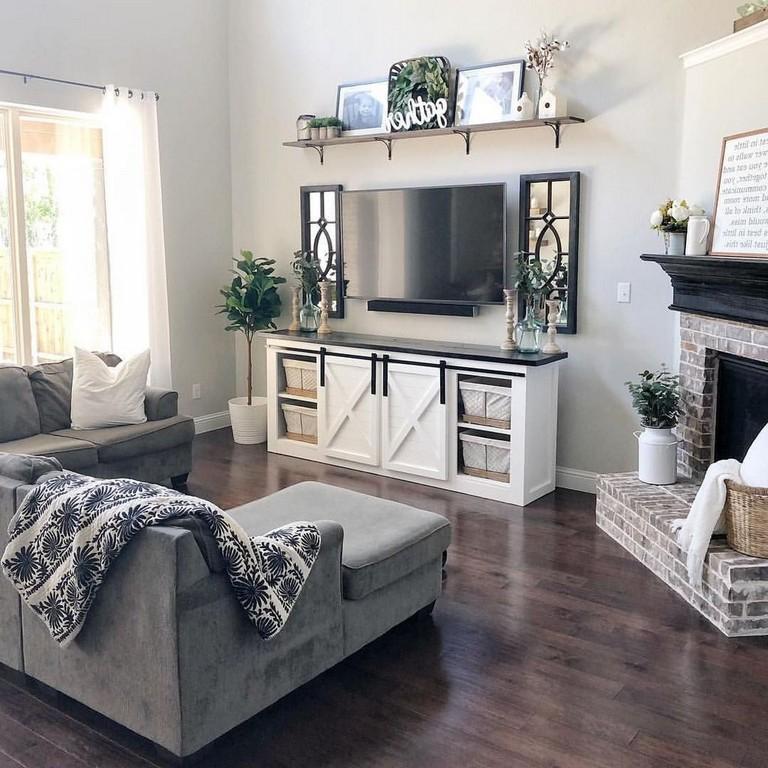 35 Classy Modern Farmhouse Living Room Design Ideas Farmhouse Livingroomdesigns In 2020 Smart Living Room Living Room Decor Apartment Modern Farmhouse Living Room