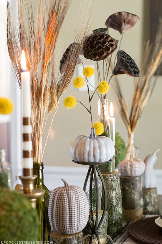DIY Fabric Tape Pumpkins #fabrictape