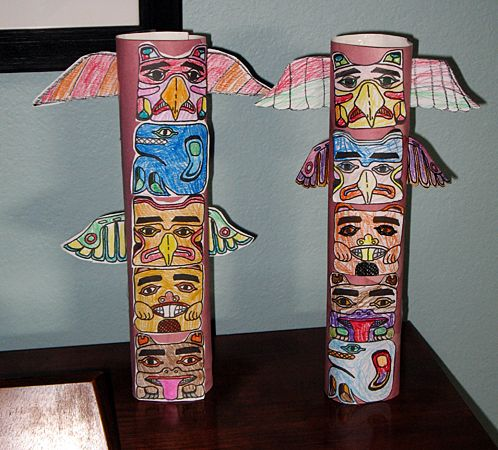 Totem Pole Craft | For kids, Crafts for kids and Totems