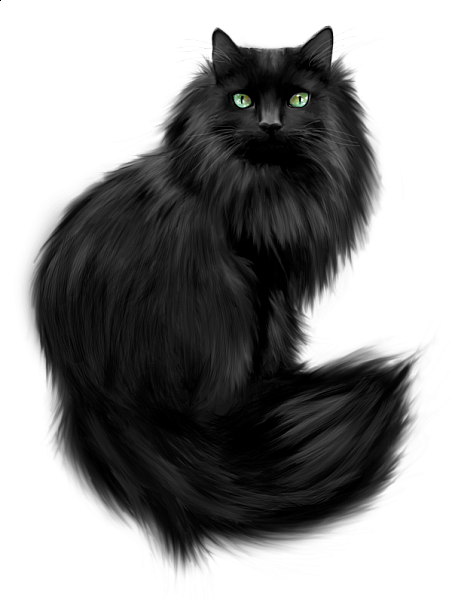Painted Black Cat Clipart Black Cat Art Cat Clipart Cats