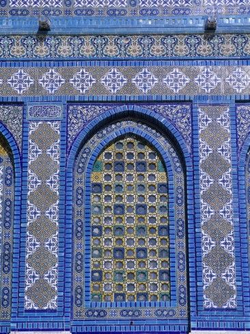 'Exterior View of Window and Tilework on Dome of the Rock' Photographic Print - Jim Zuckerman | AllPosters.com