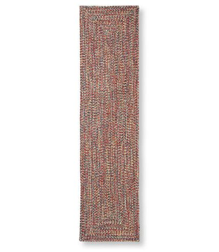 All Weather Braided Rectangular Runner Cocentric Pattern Outdoor Rugs Free Shipping At L Bean