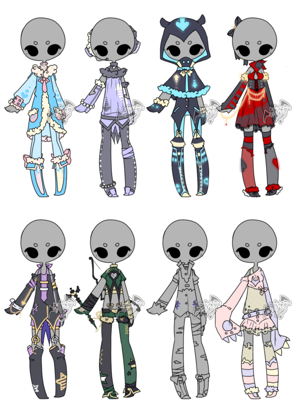 .Adoptable. Outfit Batch 08 [5/8] by DevilAdopts