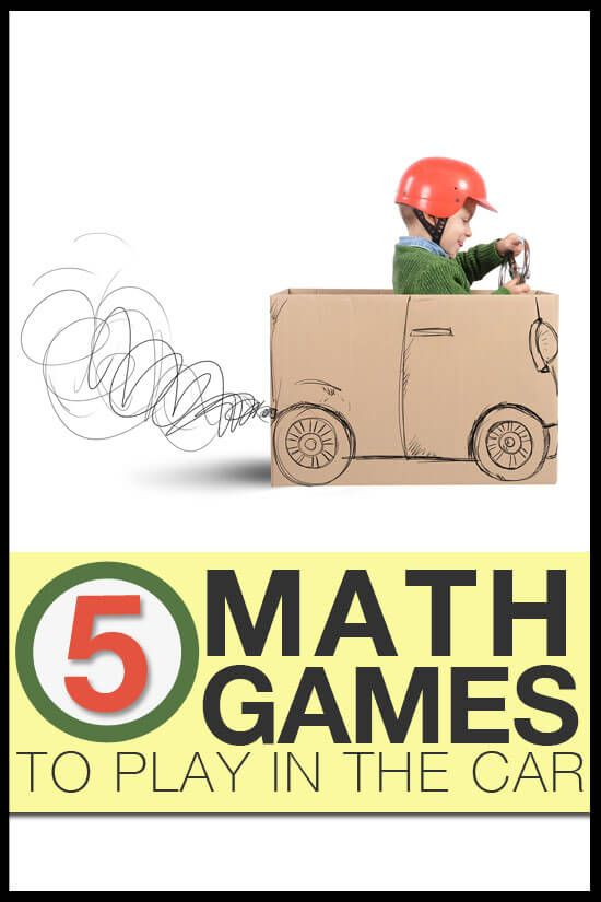 5 Math Games To Play In The Car Math Homeschool And Activities