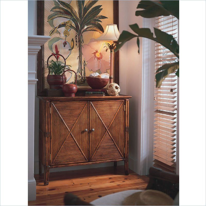 Tommy Bahama Home Coral Reef Hall Chest In Medium Antiqued Brown