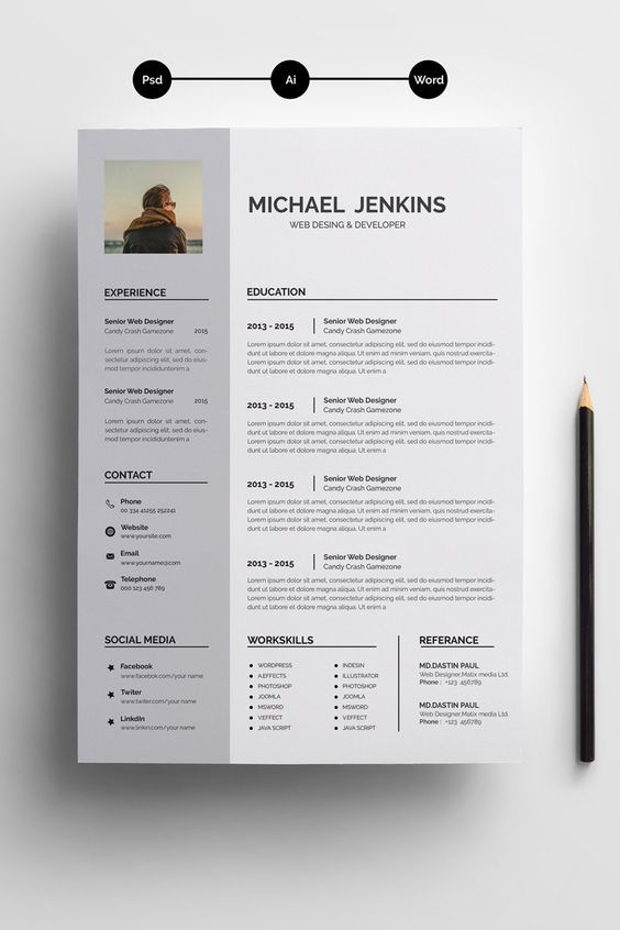 Professional Resume l CV template I instant download | MS word resume with cover letter+reference template | One and two page resume