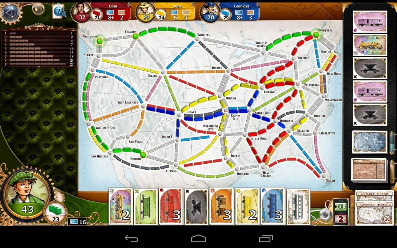 Ticket To Ride USA Map Board Games Pinterest
