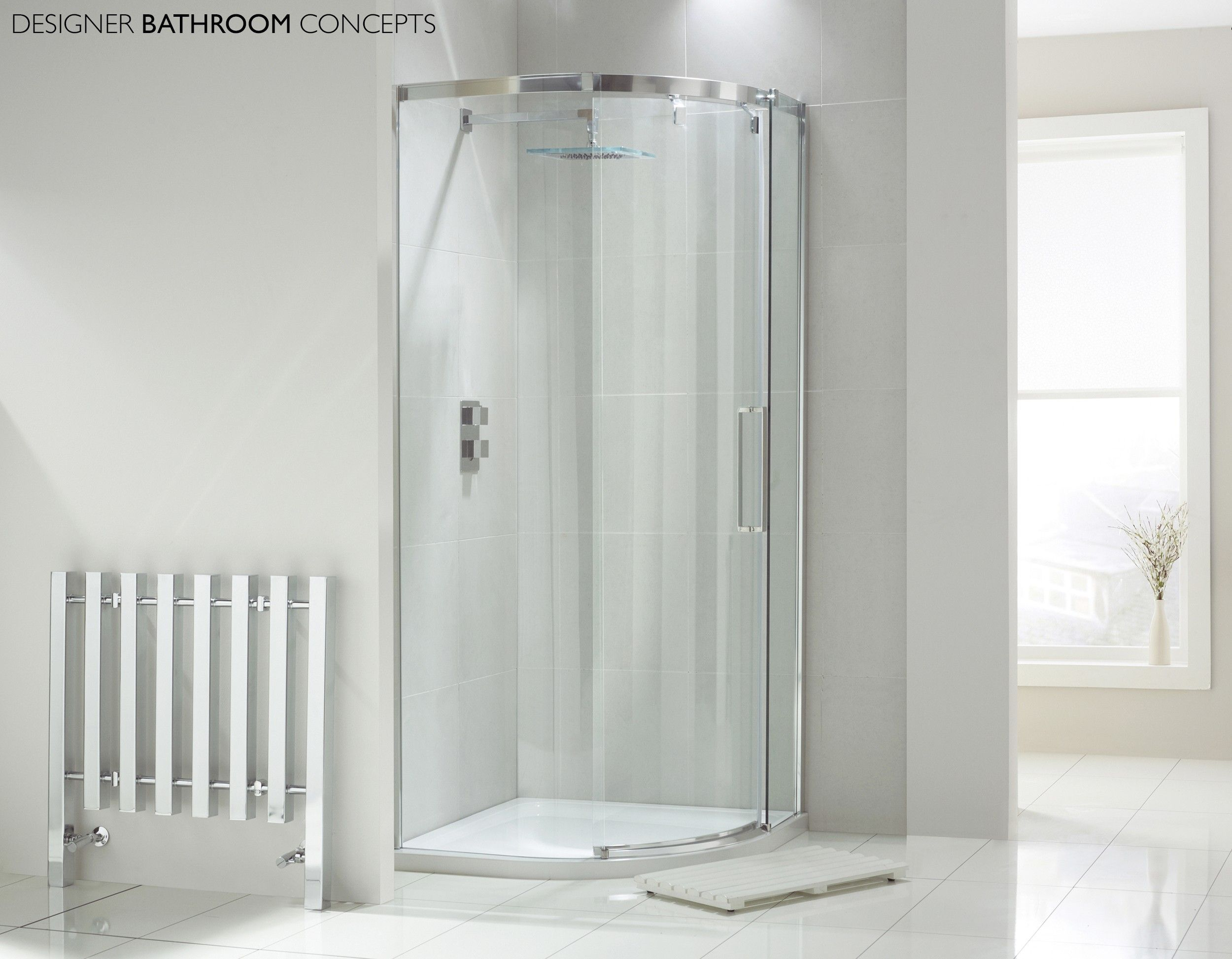 Aquaglass Designer 1 Door 8mm Quadrant Shower Enclosure from ...