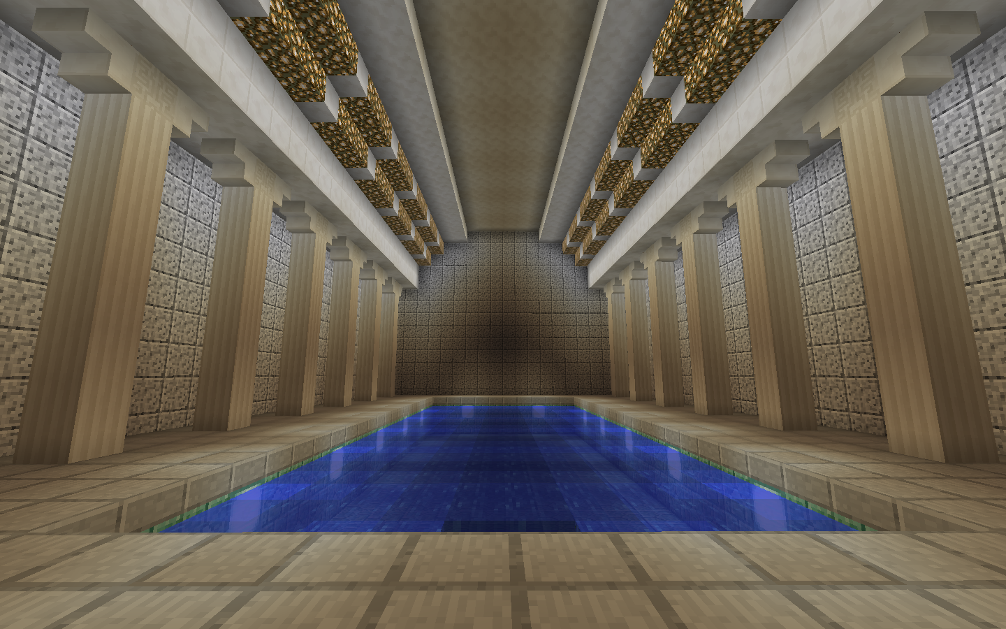 Indoor Pool Imgur Minecraft Mostly Builds Pinterest