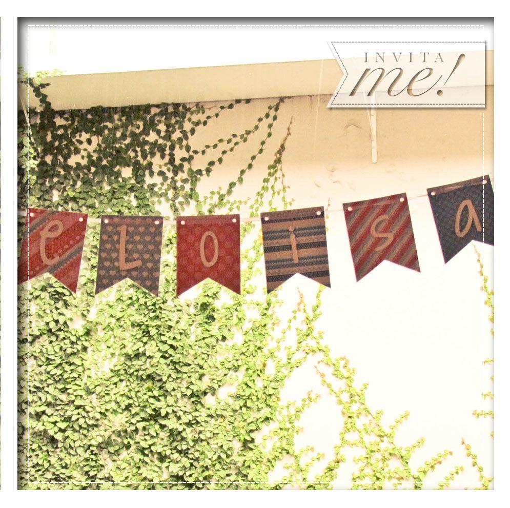 Los banderines de invítaMe y las guirnaldas de crochet llenaron de color todo el saloncito. hola@invita-me.com.ar