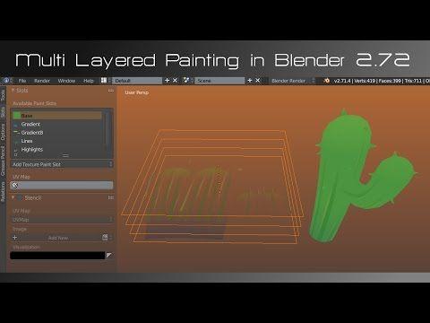 Multi Layered Painting in Blender 272 YouTube Blender 3D