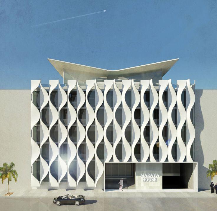Resultado de imagen para facade modern house parametric Building facade pictures