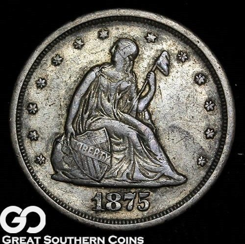 1875-S Twenty Cent Piece Always In High Demand Toned AU  Free Shipping! https://t.co/svZdNOiswG https://t.co/CB8wvaqw38