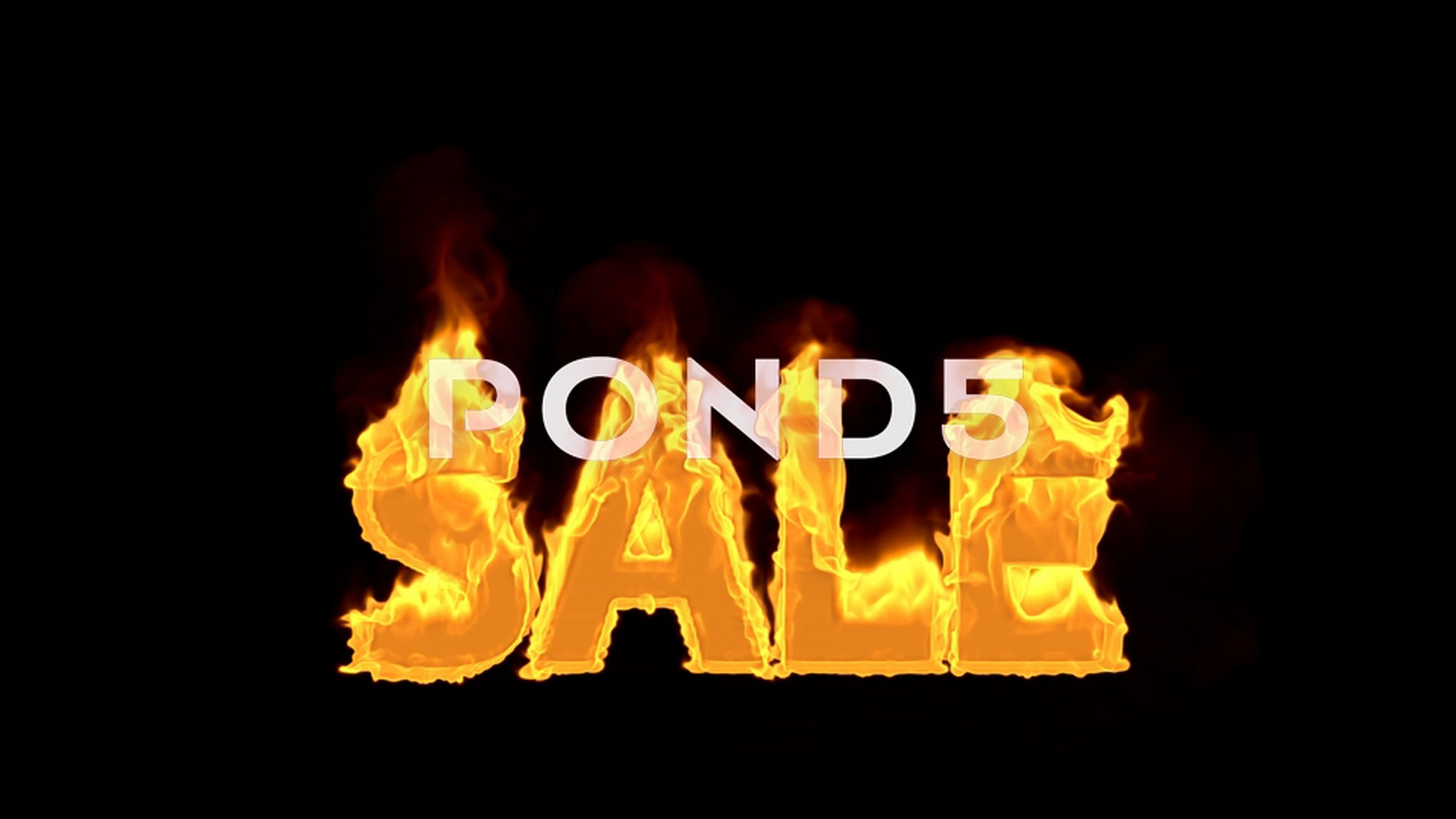 Fire Sale text Stock Footage AD ,SaleFiretextFootage