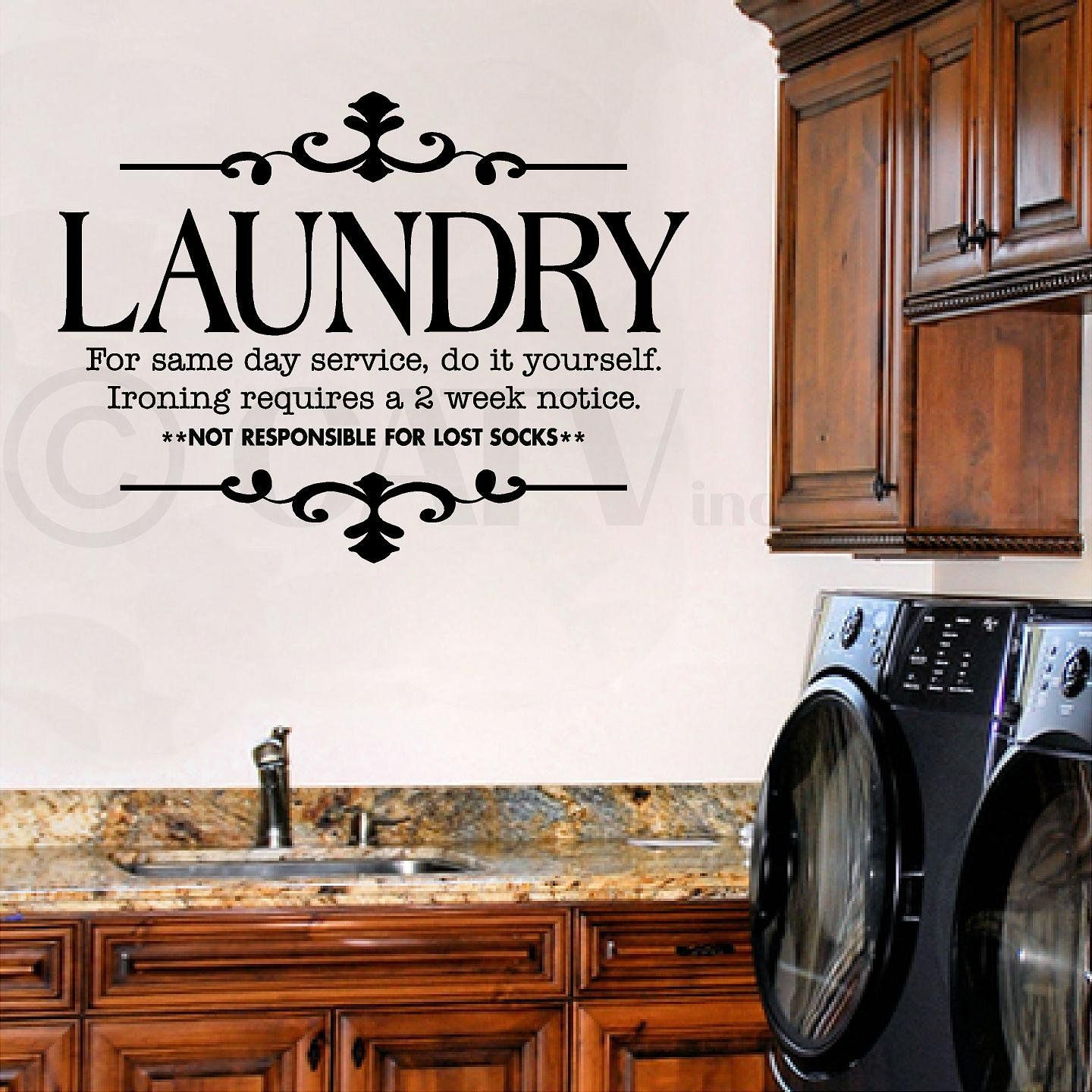 Laundry Room Wall Words Laundry For Same Day Service Do It Yourselfironing Requires A 2