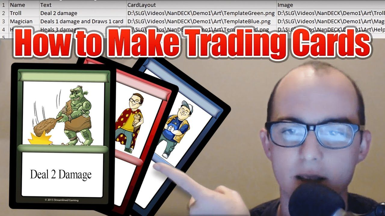Learn How To Make Your Own Trading Cards Using Nandeck You