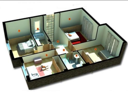 denah rumah 1 lantai | denah lantai rumah, rumah minimalis