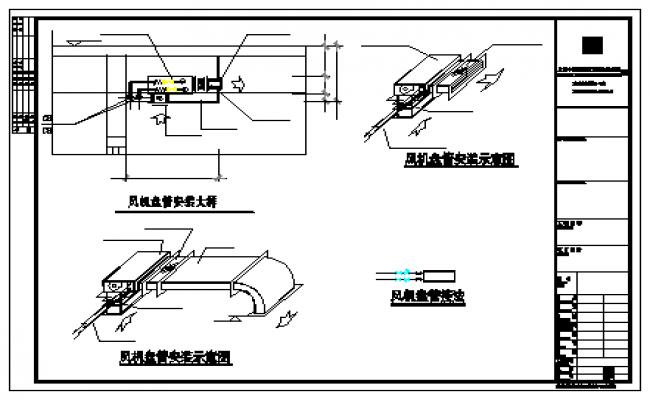 Fan Coil Installation Diagram Detail Design Drawing Design