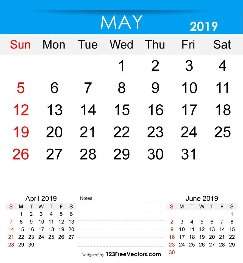 Free Printable May 2019 Calendar 2019 Calendar Pinterest