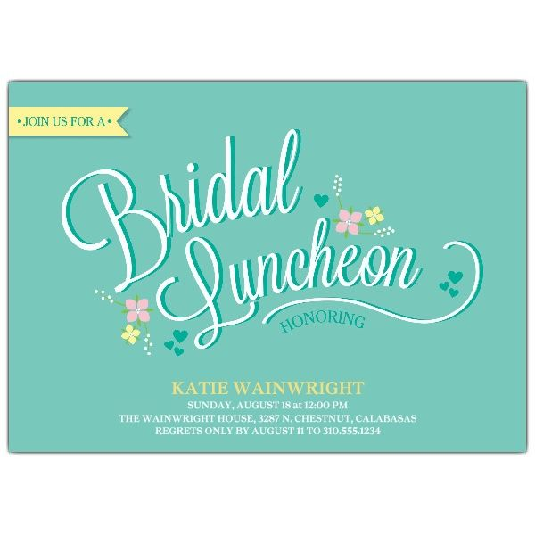 Delicate Floral Bridal Luncheon Invitations showers Pinterest - lunch invitation templates