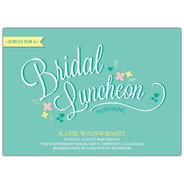 Delicate Fl Bridal Luncheon Invitations