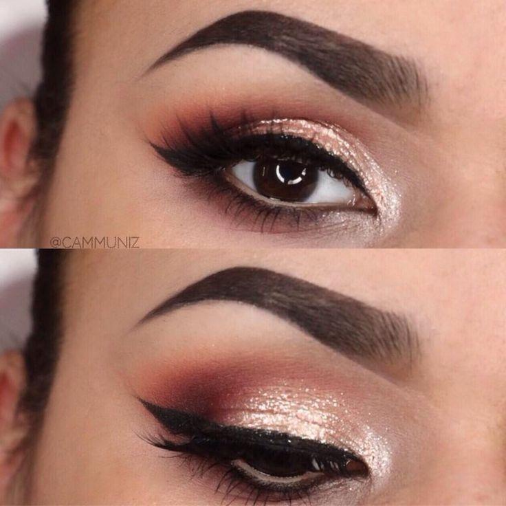 Daily Fash For Fashion Brown Eyes Champagne Sparkle Makeup Geek Eyesdows Stila Magnificent Metal Foil In Kitten Classy Makeup Makeup Eye Makeup