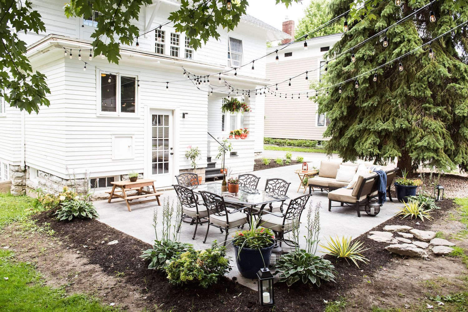 Our Backyard Makeover + New Patio Reveal (Before and After ...