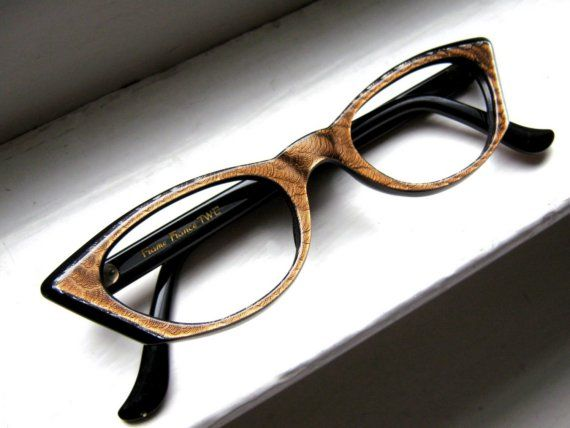 RESERVED for 2311Sunny    Vintage 50's Copper Square Cat Eye Frames France