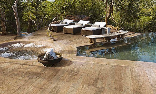 Carrelage pour sol extérieur imitation parquet Lodge Settecento