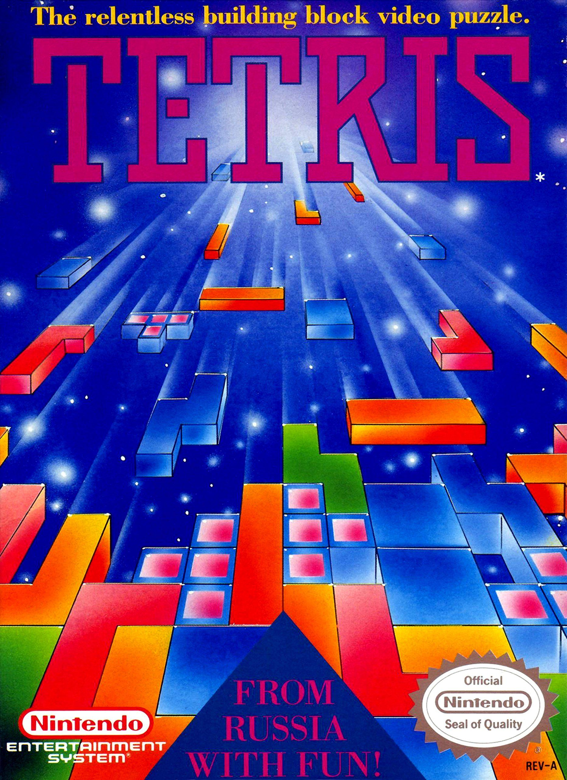 Tetris Game Cover High Quality Poster Posters