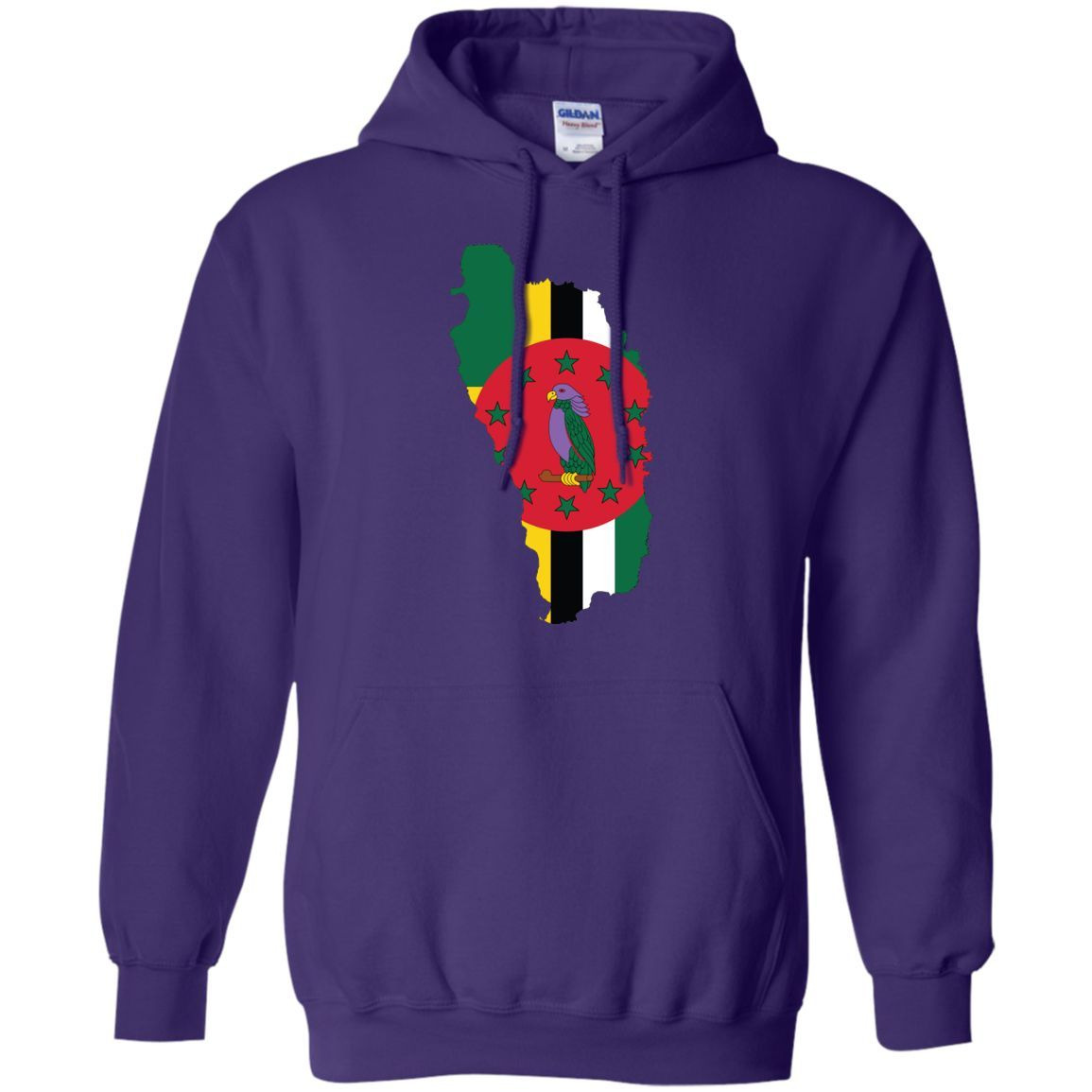 Dominica flag -01 Pullover Hoodie 8 oz