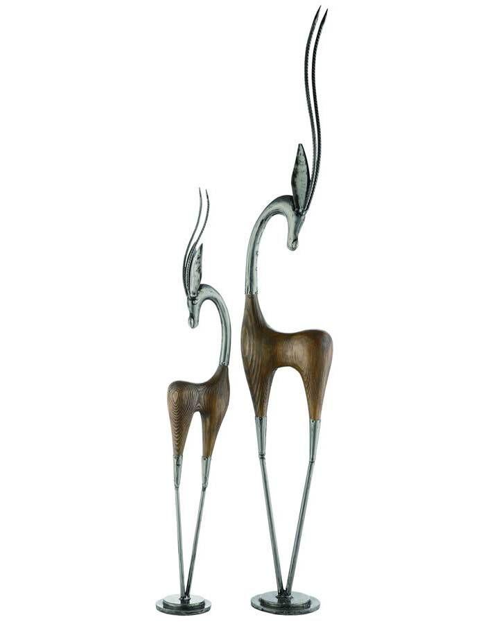 Gazel Duo Tall Statue Statue Decorative Objects Figurines