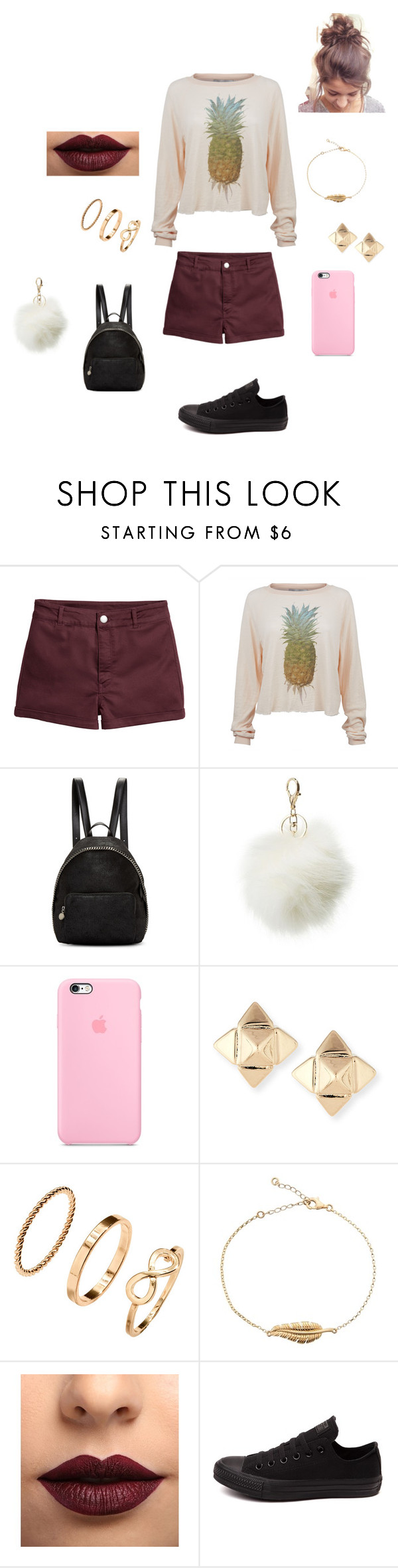 """87tjyfvmb"" by idkwigd ❤ liked on Polyvore featuring Wildfox, STELLA McCARTNEY, Charlotte Russe, Valentino, LASplash and Converse"