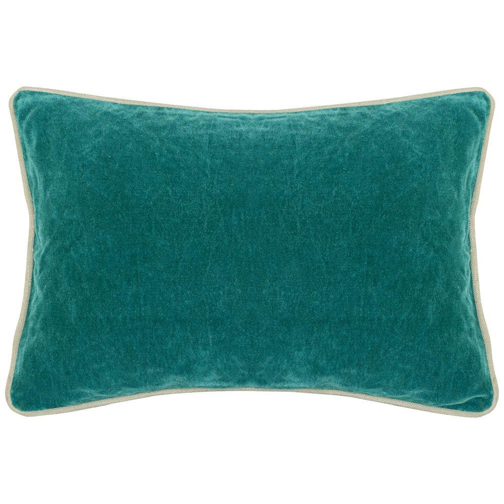 Bright Teal 20 X 14 Cotton Velvet Throw Pillow 9m850 Lamps Plus Throw Pillows Velvet Throw Pillows Oblong Throw Pillow