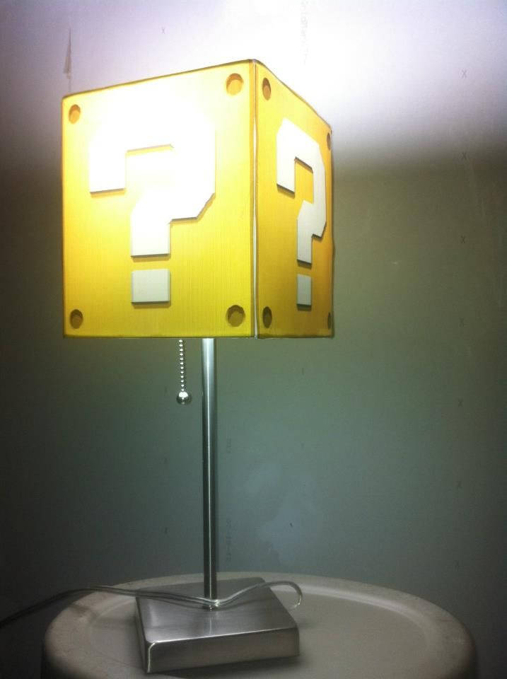 DIY Mario Themed Lamp Print Mystery Question Blocks On