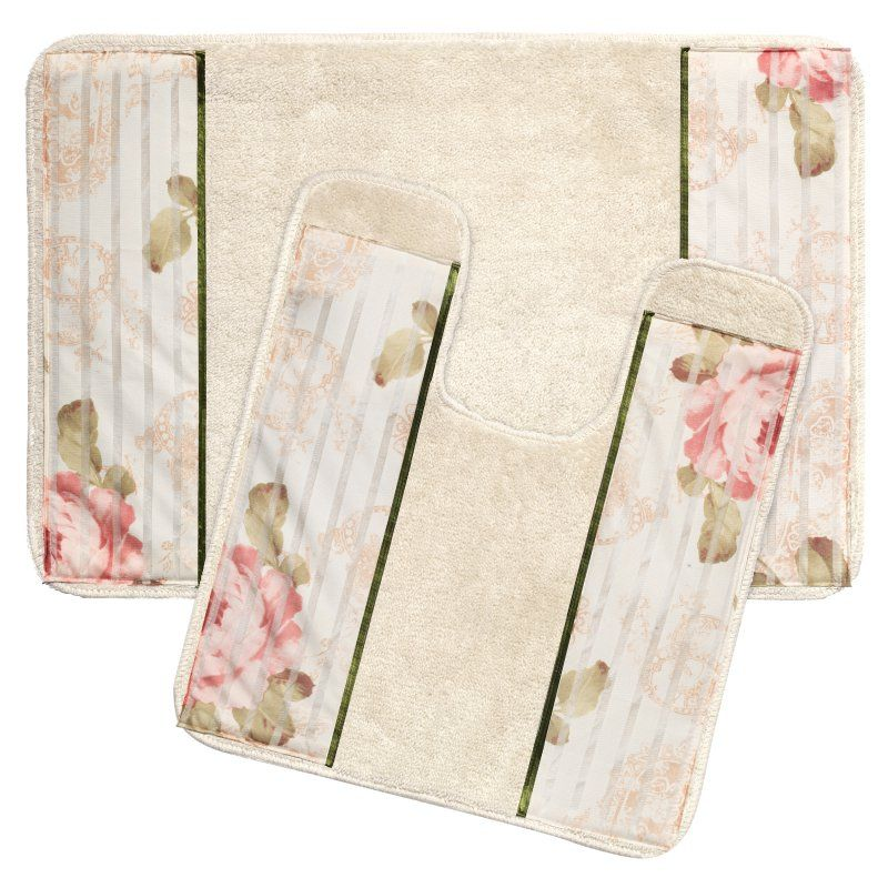 Sweet Home Collection Madeline Beige Bathroom Rug Set Bathroom Rugs Bathroom Rug Sets Beige Bathroom