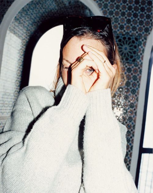Phoebe Philo - during Céline SS 13 ad campaign shootings