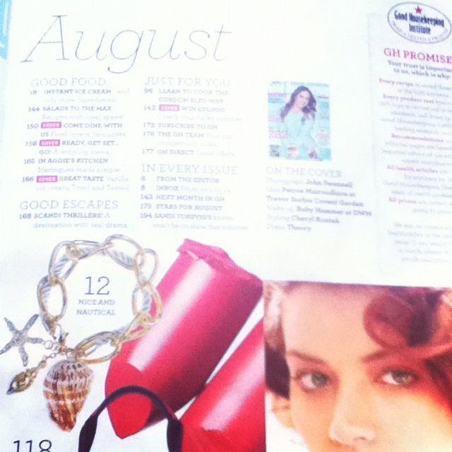 Shell bracelet featured in good housekeeping mag  www.gossimarwings.com