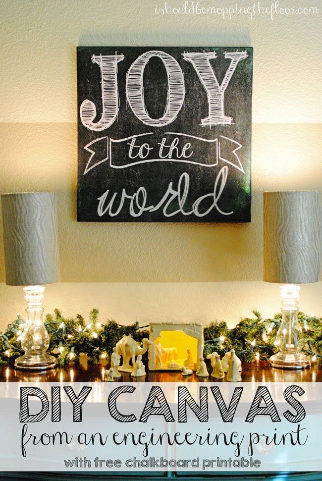8 DIY Christmas Wall Art Projects | Engineering prints, Diy canvas ...