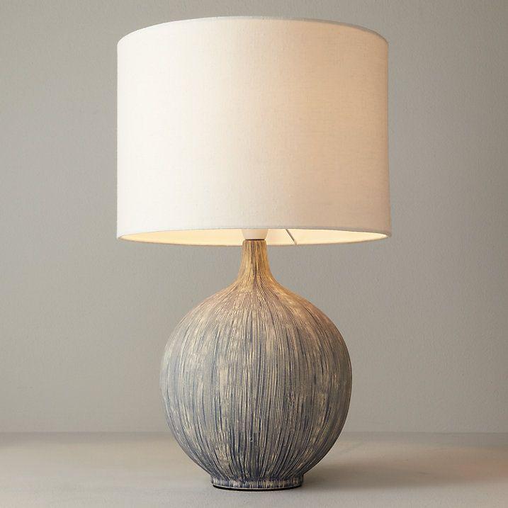 Buy John Lewis Ebony Table Lamp Slate Online At Johnlewis Com