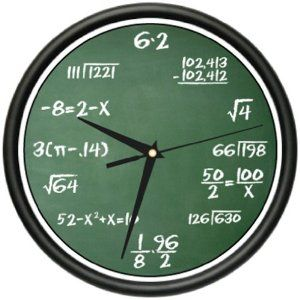 So Much Fun For Big Kids But Could Totally Be Redone W Simple Computation Problems Math Clock Classroom Gifts Clock