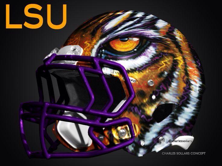 Lsu Tigers Concept 1 Of My Favs Football Football Helmets Cool Football Helmets